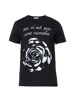 Rose-print T-shirt