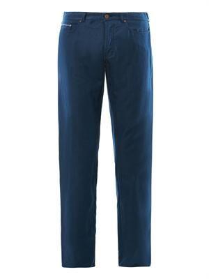 Straight-leg linen chinos