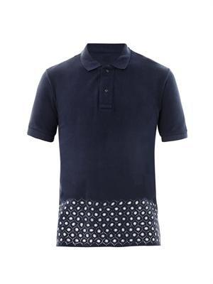 Printed hem polo shirt