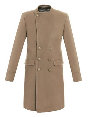 Militia collarless coat