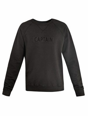 Captain applique  sweatshirt