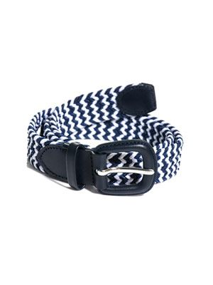 Stretch-woven bi-colour belt