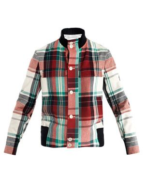 Madras check bomber jacket