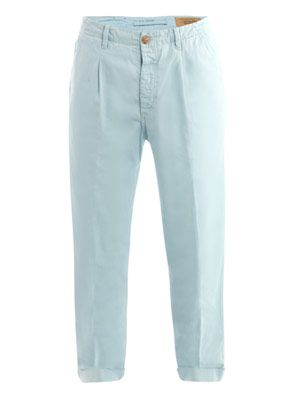 Pleated-front chino trousers