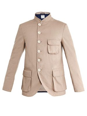 Patch-pocket single-breasted  jacket