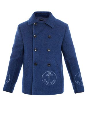 Arthur anchor pea coat