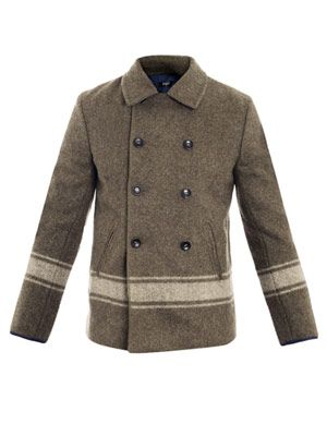 Arthur striped pea coat