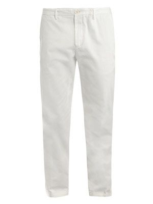 Pleat front chino trousers