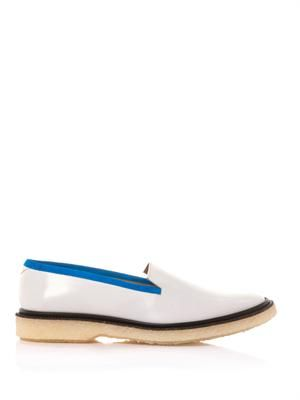 Colour-block leather loafers