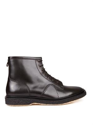 Type 22 leather ankle boots