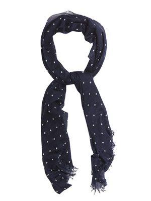 Staffa polka-dot cashmere-blend scarf