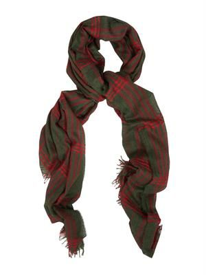 Staffa cashmere and silk-blend scarf