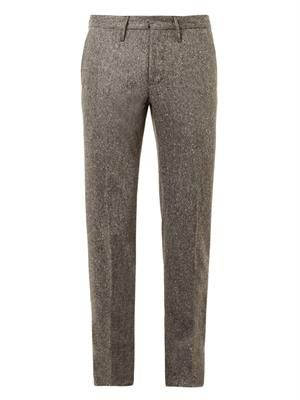 Slim-leg donegal-tweed trousers
