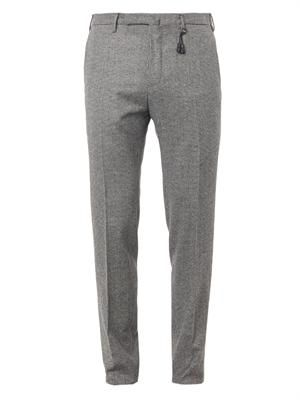 Hound's-tooth wool trousers