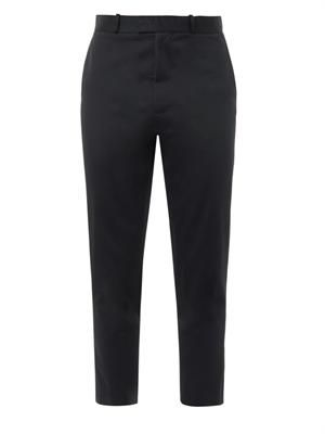 Cotton-twill cropped trousers