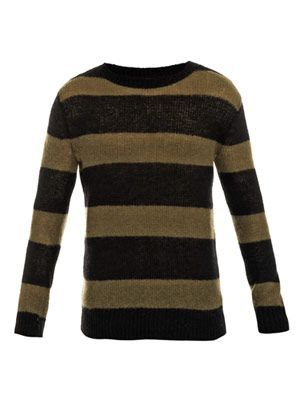 Mohair-blend stripe sweater