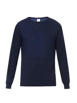 Program subtle-contast knit sweater