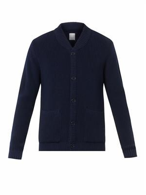 Desire ribbed merino-wool cardigan
