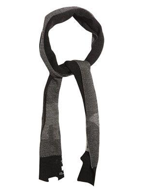 Polar Bear wool-knit scarf