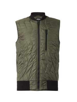 Bi-colour quilted gilet