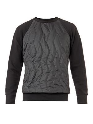 Quilted-front sweatshirt