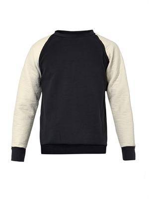 Technical-sleeve sweatshirt