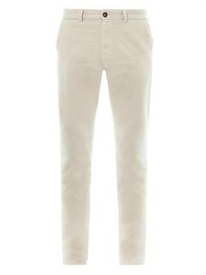 Selvedge cotton chinos