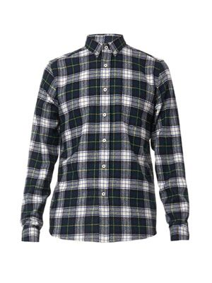 AMI Checked wool shirt