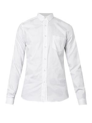 Polka-dot-jacquard shirt