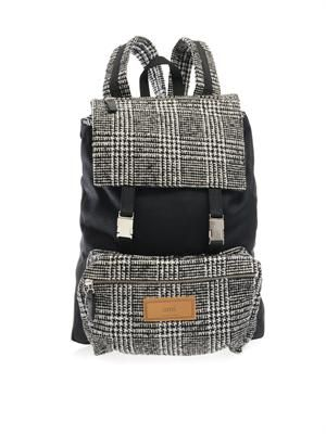 Prince of Wales-check backpack