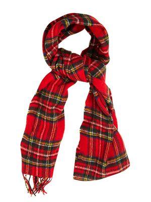 Tartan merino-wool scarf