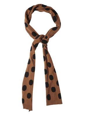 Polka-dot wool scarf