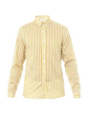 Cotton and silk-blend oxford shirt