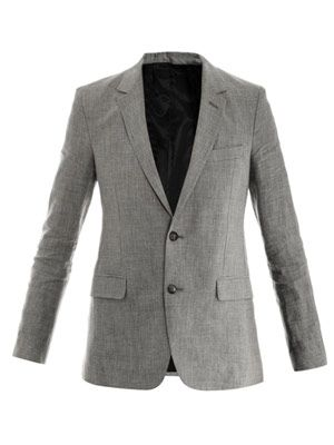 Dogtooth check linen jacket