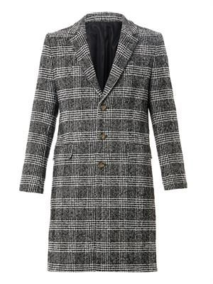 Prince of Wales-check overcoat