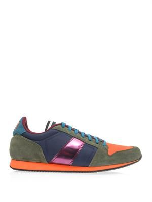 Multicoloured leather trainers