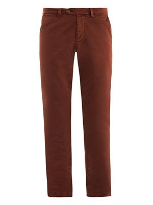 Cotton gabardine chino trousers