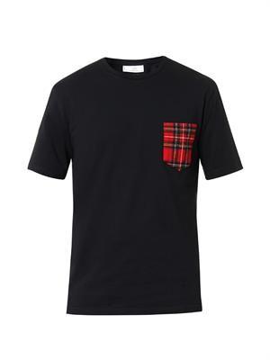 Tartan-pocket T-shirt