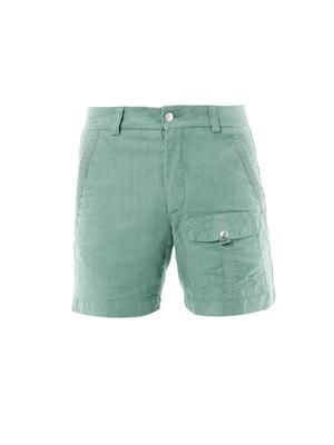 Teal-green cargo shorts