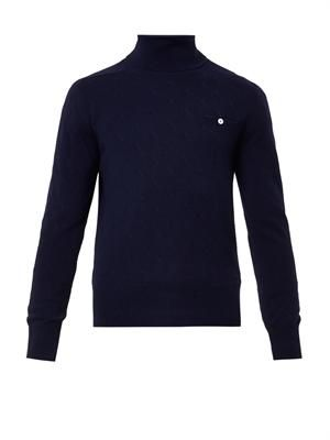 Blip roll-neck cashmere sweater