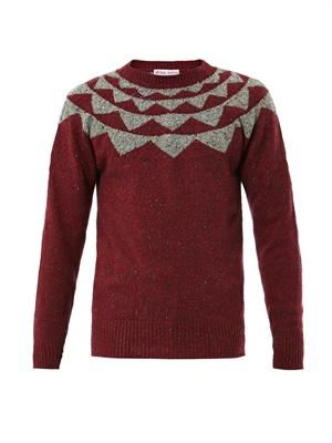 Geometric Fair Isle-knit sweater