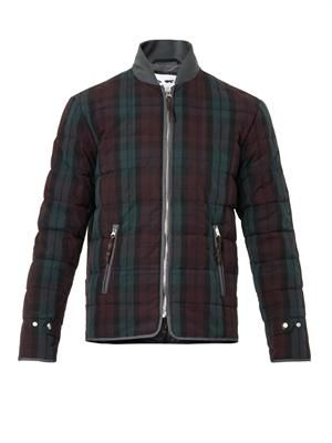 Quilted tartan jacket