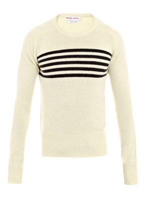 Five stripe cashmere sweater