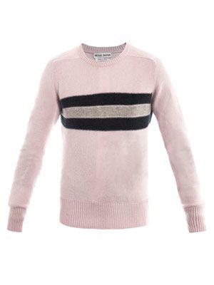 Stripe panel sweater