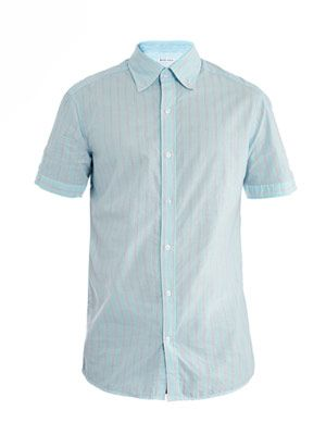 Stripe short-sleeve shirt