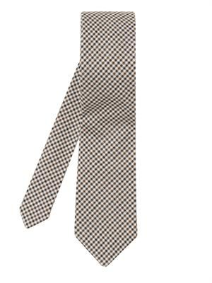 Micro-check cotton tie