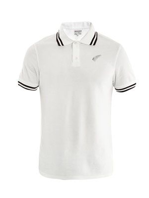 Terry tipped-edge polo top