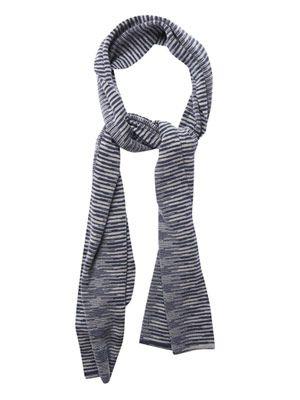Slub stripe cashmere scarf
