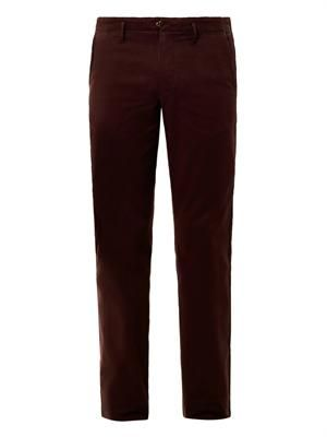 Flat front cotton chinos