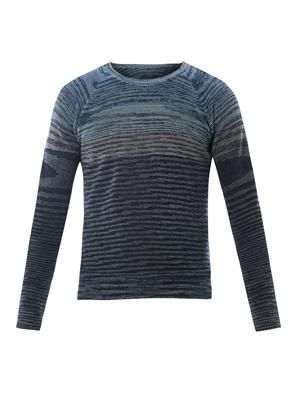 Crew-neck striped sweater